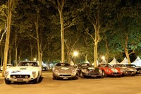 Night at the parc fermé in Bordeaux